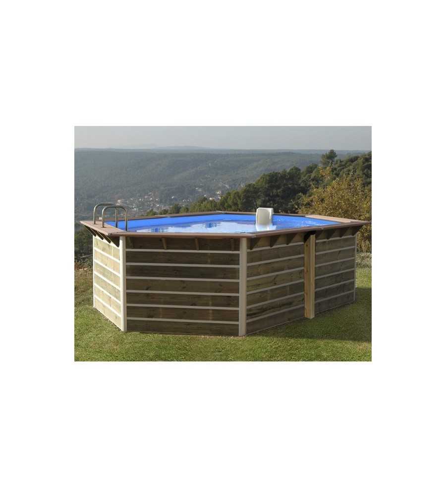 Kit piscine bois semi enterree piscine semi enterr e for Kit piscine bois semi enterree