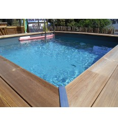 Piscine semi enterr e for Piscine carree semi enterree