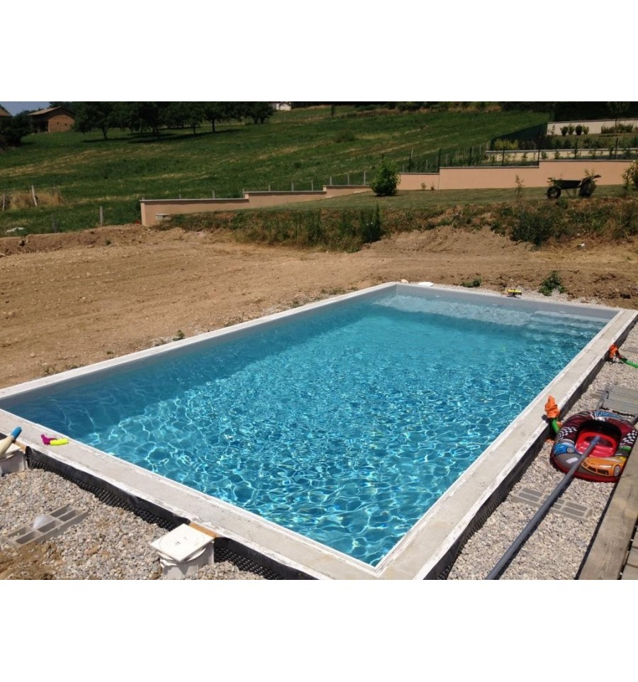 Kit bloc polystyr ne facilobloc bancher pour piscine for Piscine carree semi enterree