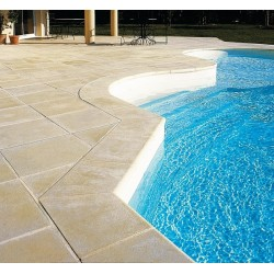 Margelles plates sable DESERT pour tour de piscine 8x4