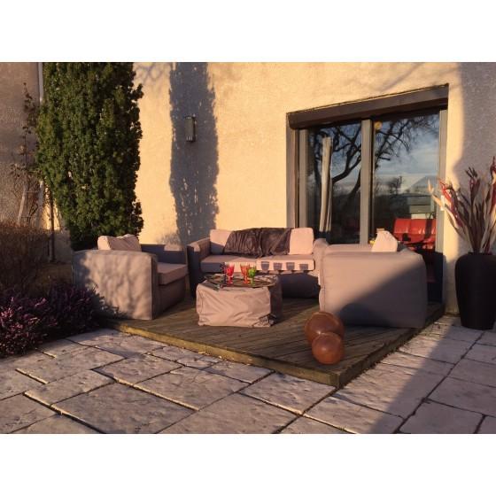 Fauteuils Salon de jardin NOMAD 4 pièces spécial extérieur