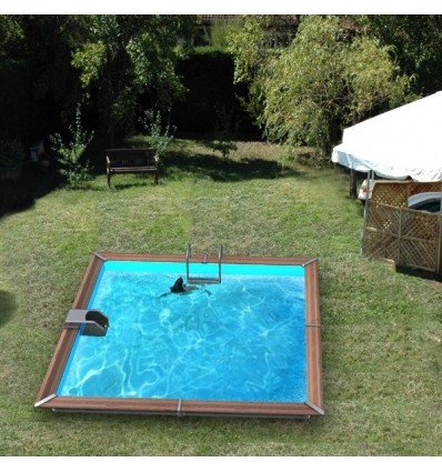 Piscine bois toute quip e 3 implantations possible compl te for Piscine carree hors sol