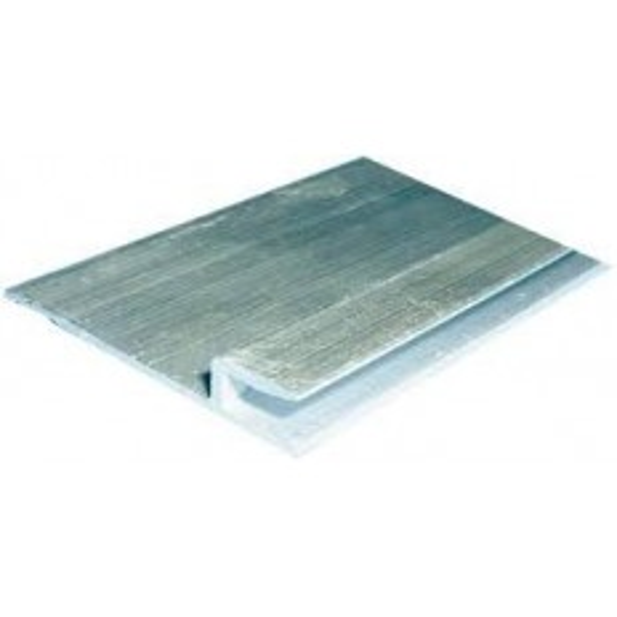 Profilé aluminium HUNG horizontal sur arase d'accrochage liner pour PISCINE