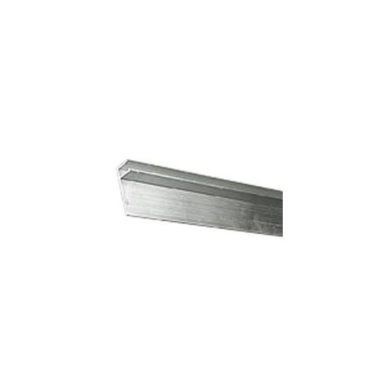 Profilé aluminium HUNG rénovation vertical sur paroi d'accrochage liner pour PISCINE 2m