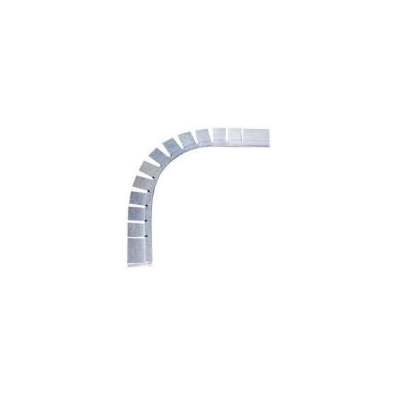 Profilé aluminium HUNG horizontal sur arase d'accrochage liner pour PISCINE angle R15cm