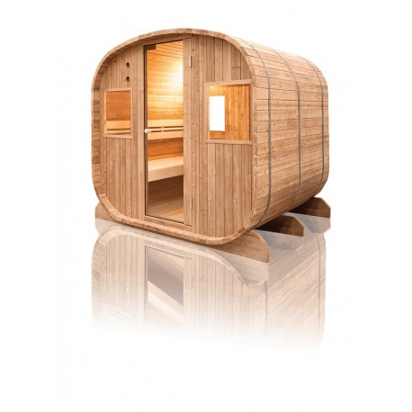 sauna traditionnel barrel vapeur pour ext rieur 6 places. Black Bedroom Furniture Sets. Home Design Ideas