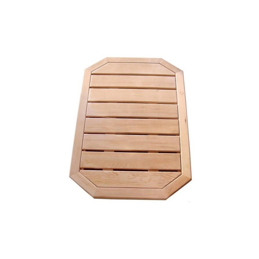 Caillebotis bois pour douche solaire