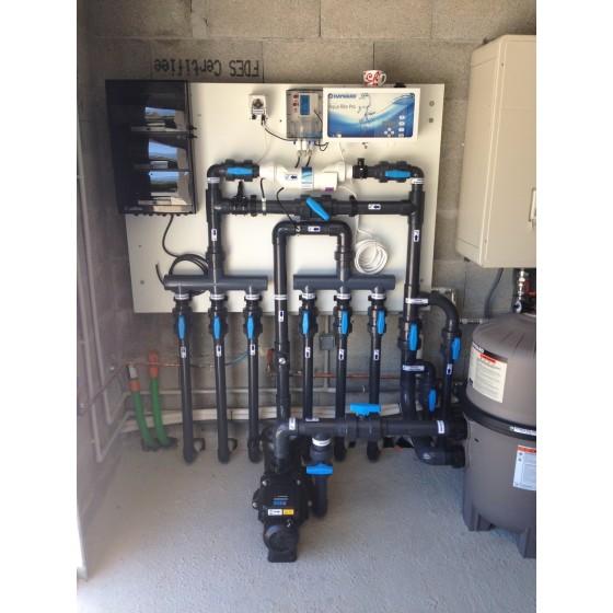 Ensemble complet de plomberie PVC pour filtration de piscine