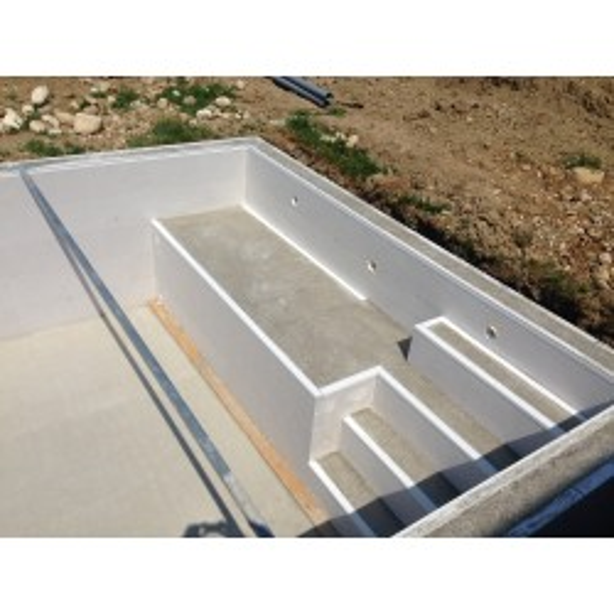 Bloc polystyrène haute densité STYRAQUA pour construction piscine