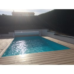 Kit de construction de piscine sur mesure8x4x1.2 fond plat