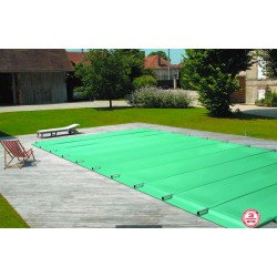 Bache à barres de sécurité sur mesure pour piscine rectangle 6x3