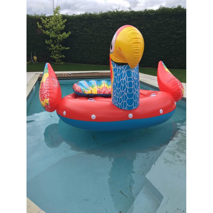 Perroquet gonflable géant pour s'amuser à plusieurs