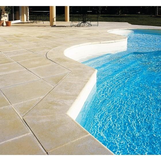 Margelles dalles plates sable DESERT pour tour de piscine 7x3.5