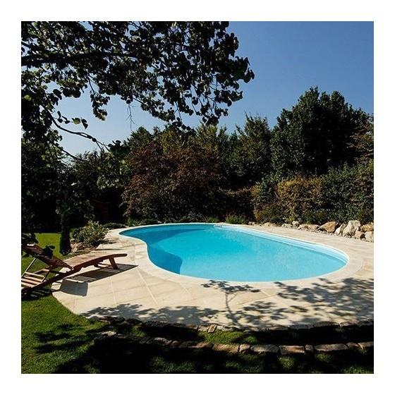 Margelles dalles plates sable DESERT pour tour de piscine 4 X 2.5