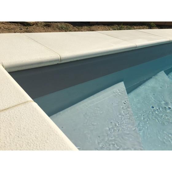 piscine.com margelles DUNE blanc cassé pour tour de piscine