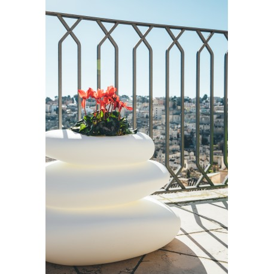 Pot décoration EDEN top design blanc