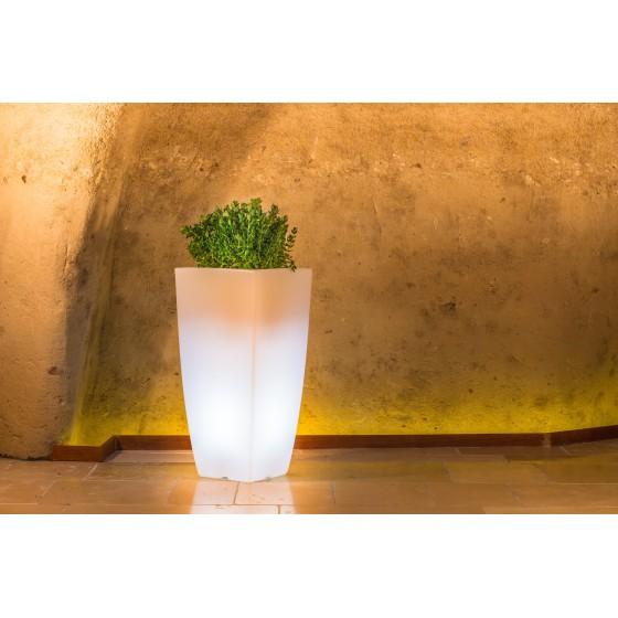 Pot lumineux STILO SQUARE design pour l'extérieur petit modèle