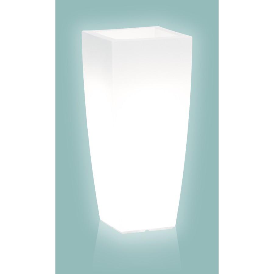Pot lumineux STILO SQUARE design pour l'extérieur grand modèle