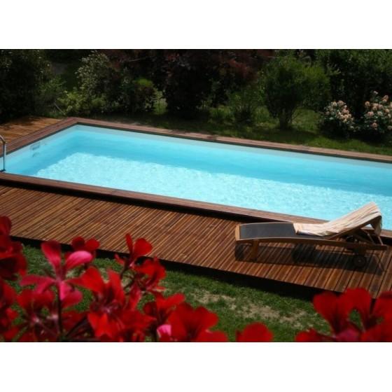 Piscine bois rectangle CITY moins 10 m² qualité professionnelle