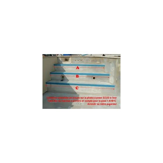 Cornière en tôle spéciale avec PVC colaminé pour PISCINE LINER armé