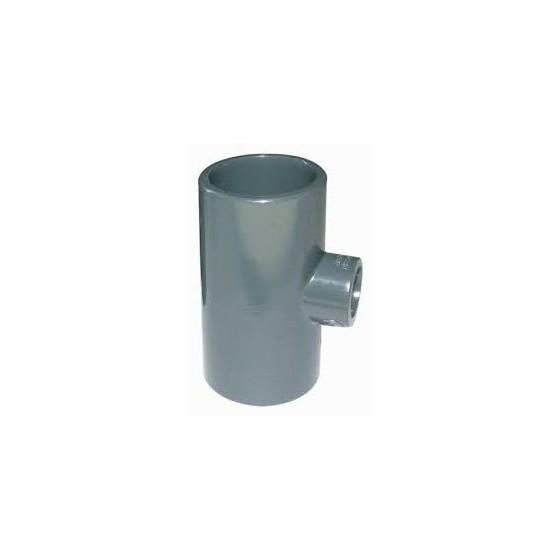 Té réduit femelle PVC pression à coller pour PISCINE