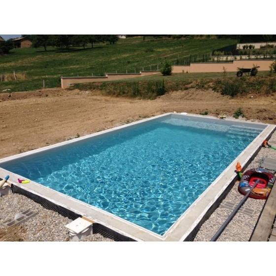 Kit bloc polystyrène FACILOBLOC à bancher pour piscine béton semi enterrée