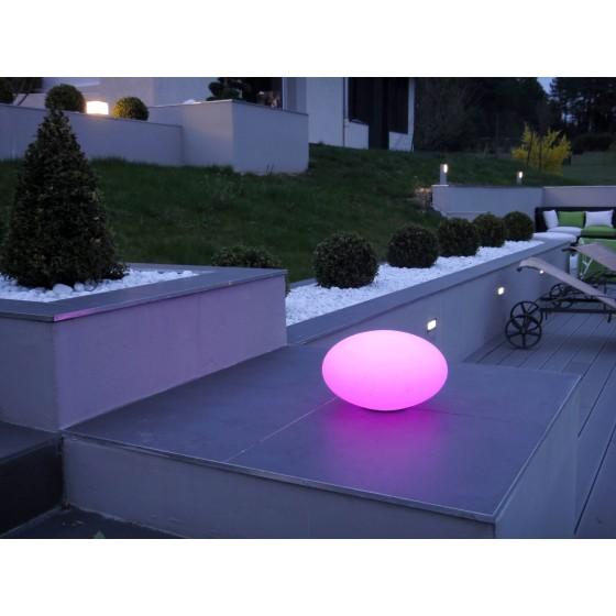 Galet lumineux LOOMISPHERE sans fil pour l'eclairage autour de la piscine